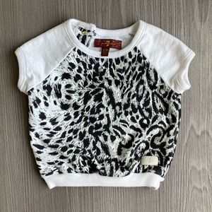 Seven For All Mankind // Baby Snow Leopard Shirt